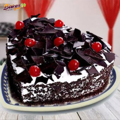 Delicious Heart Shaped Choco Rolls Blackforest Cake